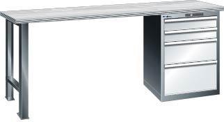 Werkbank 2000x750x840 mm Multiplex40,1Schr.5SL,bl