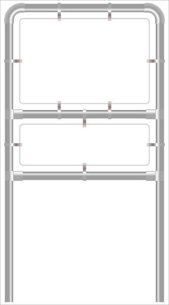 Rohrrahmen F2. 1500x1000 mm