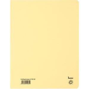 Einschlagmappe, Karton (RC), 3 Klappen, A4, für: 250 Blatt, gelb