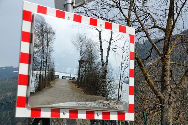 """Verkehrssspiegel DURABEL 2 """"ICE FREE"""". 800x600 mm"""