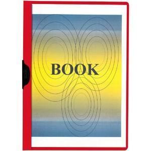 Klemmmappe, transparenter Vorderdeckel, A4, für: 1 - 30 Blatt, rot