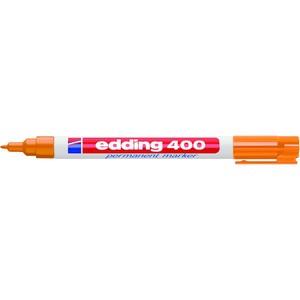 Permanentmarker 400, Rundspitze, 1 mm, Schreibf.: orange