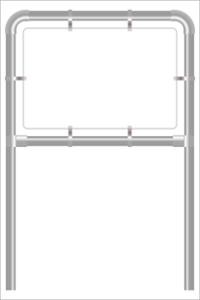 Rohrrahmen E3. 1500x1000 mm