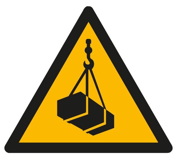 Warnschild schwebende Last s = 200/1.5mm