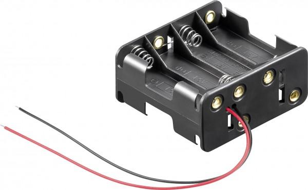 Goobay 81218 Batteriehalter 8x Mignon (AA) Kabel (L x B x H) 63 x 58 x 29.5
