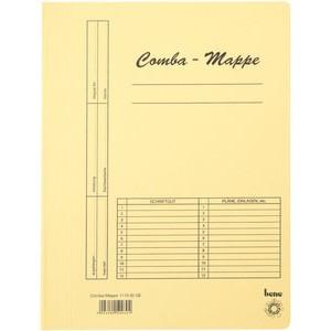Schnellhefter Comba-Mappe, Karton (RC), A4, gelb