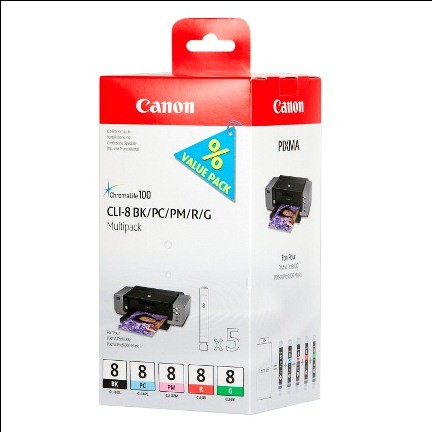 Canon CLI8 Multi Pack BK/PC/PM/R/G