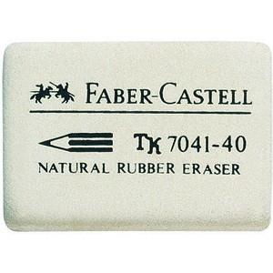 Radierer, 7041-40, rechte., Naturkautsch., 34x26x8mm, weiß