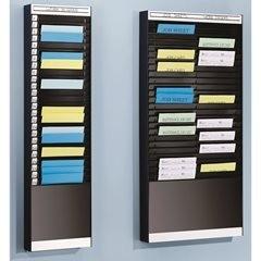 Dokumentensortiertafel, 1 x 18 Fächer, DIN A5, Dokumentenlage horizontal, alusil