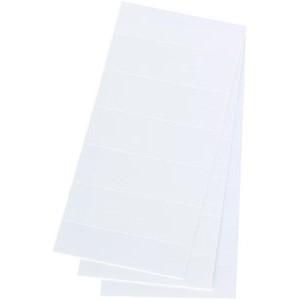 Einsteckschild, Kart., 4zeilig, 58x18mm, weiß