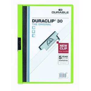 Klemmmappe DURACLIP®, Hartfolie, A4, für: 30 Blatt, grün