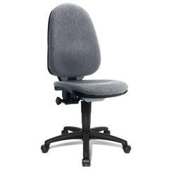 Standard-Drehstuhl, ohne Armlehnen, Rückenlehne 550 mm, Gestell schwarz, Stoff g