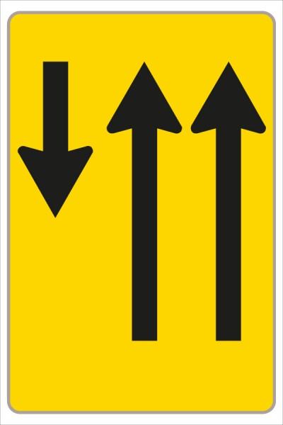 §53/16c Fahrstreifenanzeiger gelb – schwarz F13