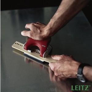 Locher Topstyle®, mit Anschlagschiene, 25 Blatt, 2,5 mm, rot