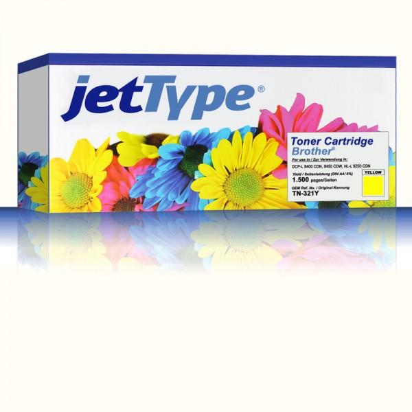 jetType Toner kompatibel zu Brother TN-321Y Gelb 1.500 Seiten