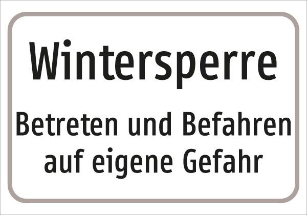 §54/5 Z.T. Text: Wintersperre .....