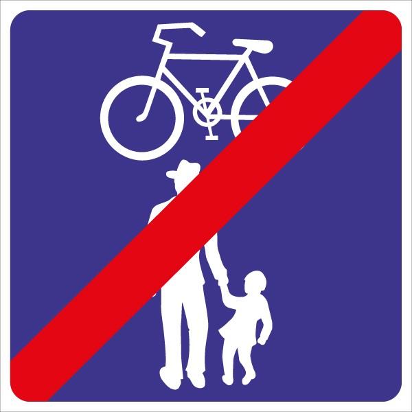 §53/29c Ende Geh- u. Radweg ohne Benützungspflicht für Radfahrer