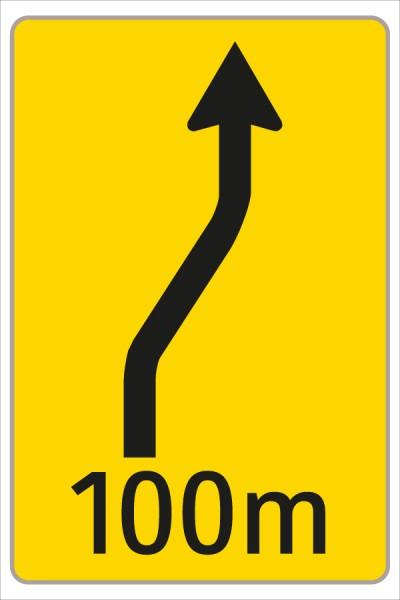 Fahrstreifenanzeiger gelb – schwarz F8