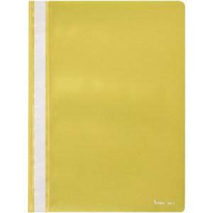 Schnellhefter, PP, transparenter Vorderdeckel, A4, gelb