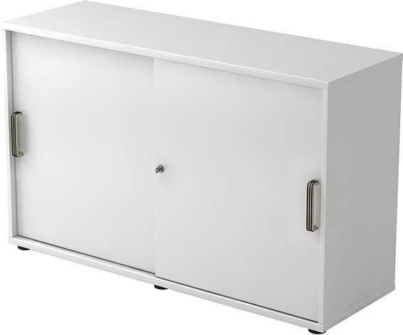 Schiebetürenschrank 120x40x74,8cm Weiß