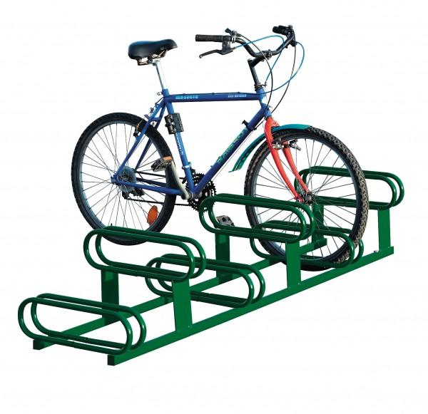 Fahrradständer 6 Plätze - Stellplätze höhenversetzt - RAL-Farben