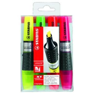 Textmarker LUMINATOR®, Keilspitze, 2 - 5 mm, Schreibf.: 4er sortiert