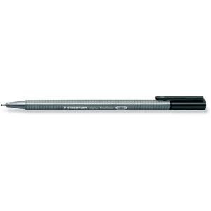 Fineliner, triplus®, mit Kappe, 0,3 mm, Schreibf.: schwarz