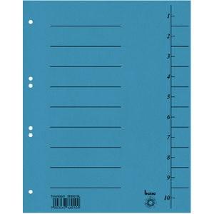 Trennblatt Intensiv, Karton, 210 g/m², 1-10, A4, blau
