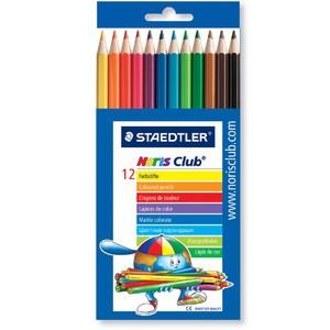 Farbstift Noris Club®, Minen-Ø: 3 mm, Schreibf.: 12er sortiert