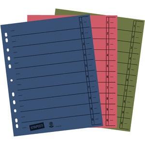 Trennblatt, Kraftkarton (RC), 1-10, Eurolochung, A4, sortiert