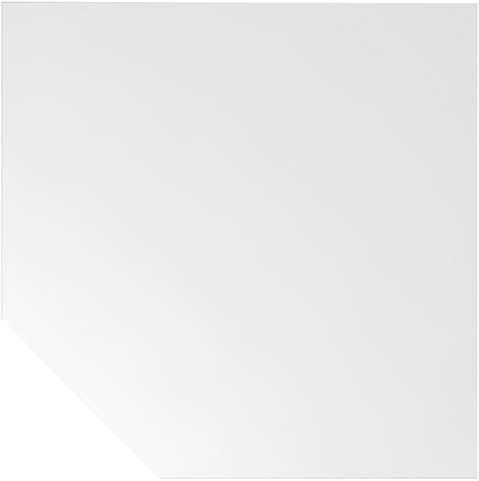 Trapezeckplatte Weiß 1200x1200 mm H-Serie
