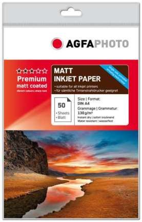 AgfaPhoto Inkjet Photo Paper A4 1x50