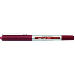 Tintenkuli eye micro UB-150, 0,2mm, Schaft: silber, Schreibf.: rot