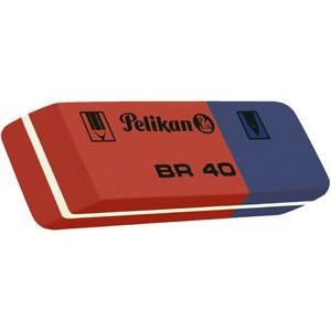Radierer BR 40, Kautschuk, 58 x 20 x 8 mm, rot/blau