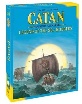 CATAN - seafarers scenario - legend of the sea robbers