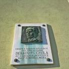 Derkovits Gyula-emléktábla