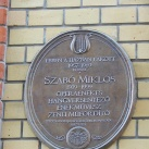 Szabó Miklós-emléktábla
