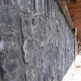 Monumentális falrelief - Tábortűz
