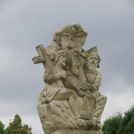 Szentháromság-oszlop Szűz Máriával