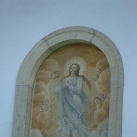 Szent Mária freskó