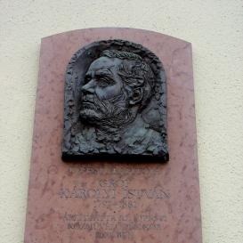 Károlyi István domborműves emléktábla
