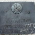 Az I. honvéd és népfelkelő gyalogezred emlékoszlopa
