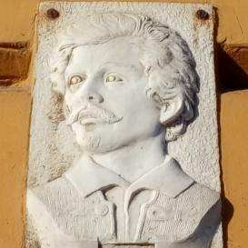 Petőfi Sándor-dombormű és márványtábla
