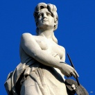 A Néprajzi Múzeum attikájának allegorikus szobrai: Festészet (10.)