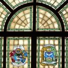 A Kálvin téri református templom szószék feletti üvegablaka