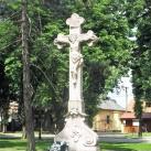 Az egykori temető nagykeresztje