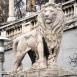 A Várkert-bazár díszfeljáróját őrző oroszlánok