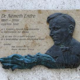 Németh Endre-emléktábla