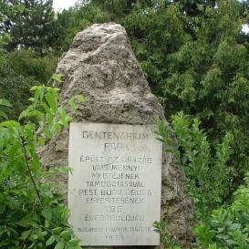 Centenáriumi park emlékkő