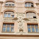 Wesselényi utcai lakóház díszítései